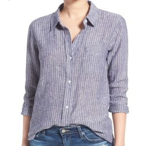 Anthropologie Tops - Anthropologie Rails Charli Navy Doublestripe
